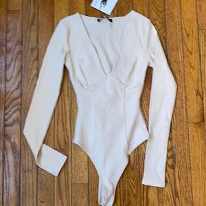 NWT naked wardrobe beige bodysuit